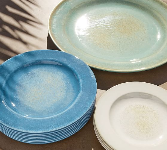 Reactive Glaze Melamine Dinnerware, Set of 4
