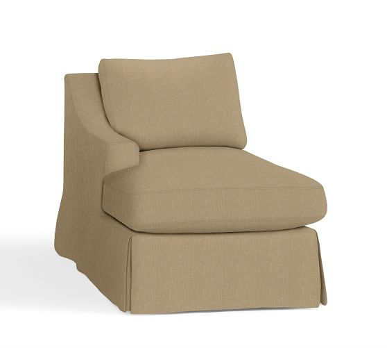 roll arm chair slipcovers forest 3900 dental manual york slope sectional component | pottery barn