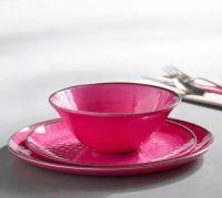 Swirl Melamine Dinnerware - Pink | Pottery Barn