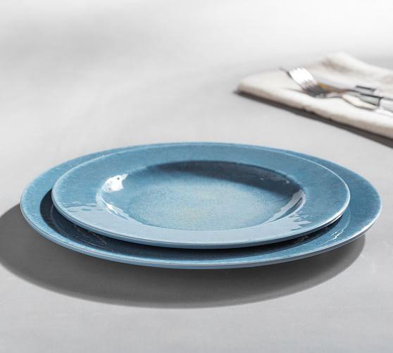 Reactive Glaze Melamine Dinnerware, Set of 4
