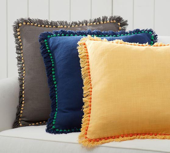 Bauble Fringe Pillow Cover  Pottery Barn