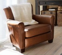 Irving Leather Armchair | Pottery Barn