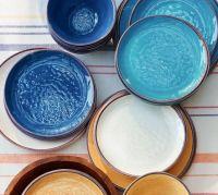 Swirl Melamine Dinnerware - Turquoise | Pottery Barn
