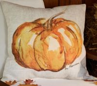 Painted Pumpkin Patch Indoor/Outdoor Pillow | Pottery Barn