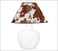 PB Basic Cowhide Lamp Shade | Pottery Barn