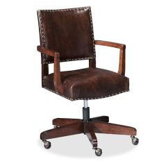 Antique Desk Chair Wheels Papa Sun Manchester Swivel   Pottery Barn