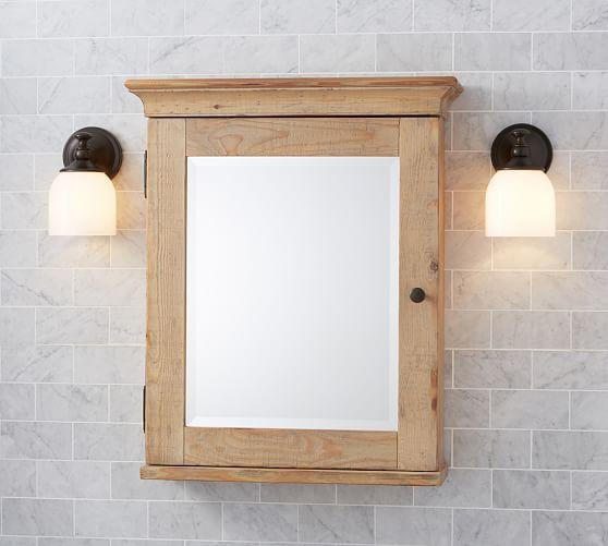 Mason Reclaimed Wood WallMounted Medicine Cabinet  Wax