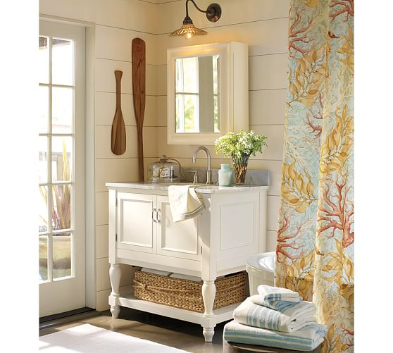 Nantucket Organic Shower Curtain  Pottery Barn