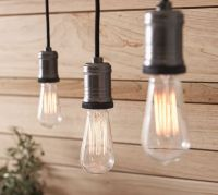 Exposed Bulb Pendant Track Lighting