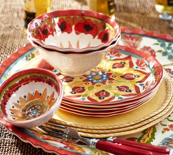 Cabo Melamine Dinnerware, Set of 4