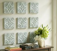 Blue Ceramic Tile Wall Art | Pottery Barn