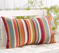 Giorgia Stripe Indoor/Outdoor Lumbar Pillow   Pottery Barn