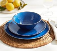 Swirl Melamine Dinnerware - Blue | Pottery Barn