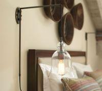 Madison Glass Pendant Sconce | Pottery Barn