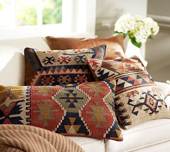 Shelton Kilim Pillow Cover  Pottery Barn