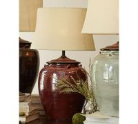 Courtney Ceramic Table Lamp Base - Red | Pottery Barn