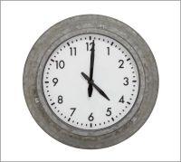 Galvanized Metal Outdoor Clock   Pottery Barn