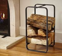 Industrial Fireplace Small Log Holder | Pottery Barn