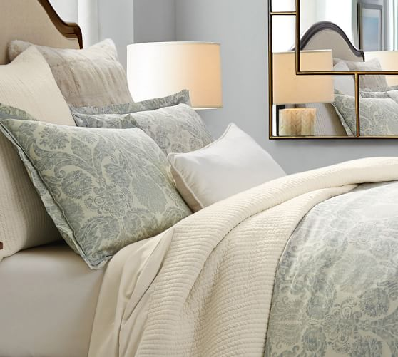 Samantha Damask Duvet Cover Sham Pottery Barn