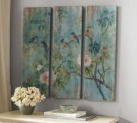 Bird & Branch Triptych Panels - Set of 3 | Pottery Barn