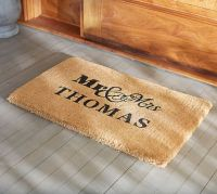 Mr. and Mrs. Doormat | Pottery Barn