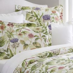 Floral Print Accent Chairs Leather For Sale Thistle Organic Duvet Cover & Sham | Pottery Barn