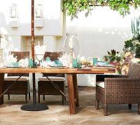 Benchwright Outdoor Rectangular Extending Dining Table ...