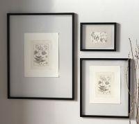 Floating Wood Gallery Frame - Black | Pottery Barn