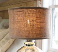 Burlap Flared Drum Lamp Shade | Pottery Barn