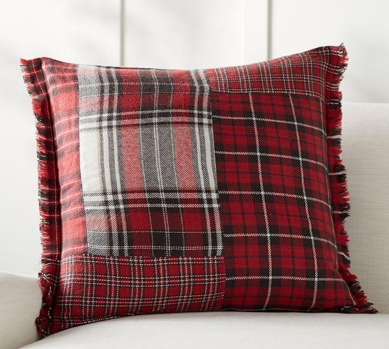 Landon Patchwork Plaid Pillow Cover