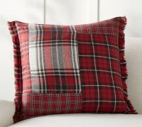 Landon Patchwork Plaid Pillow Cover | Pottery Barn