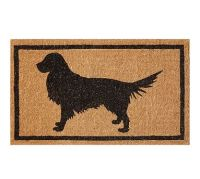 Golden Retriever Door Mat, 18X30"