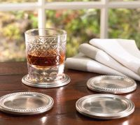 Antique Silver Drink Coasters, Set of 4 | Pottery Barn
