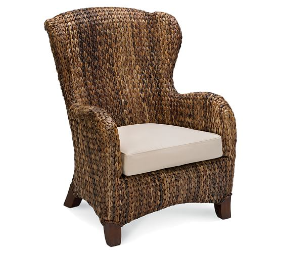 Seagrass Wingback Armchair  Pottery Barn