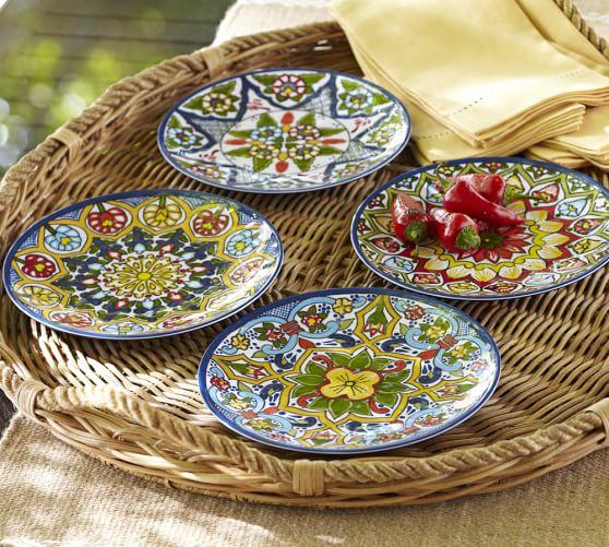 Talavera Melamine Dinnerware, Sets of 4