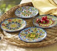 Talavera Melamine Dinnerware, Sets of 4