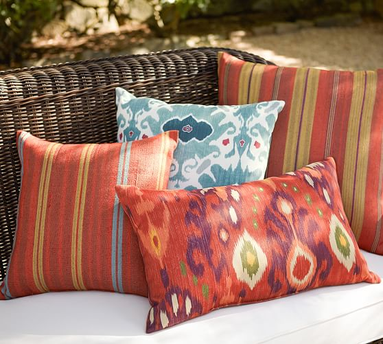 Rennie Stripe IndoorOutdoor Pillow  Pottery Barn