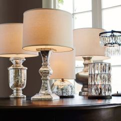 Sofas Under 100 Pounds Seat Covers For In Kenya Mini Stacked Mercury Glass Table Lamp | Pottery Barn