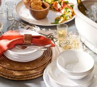 Sonora Blanca Melamine Dinnerware