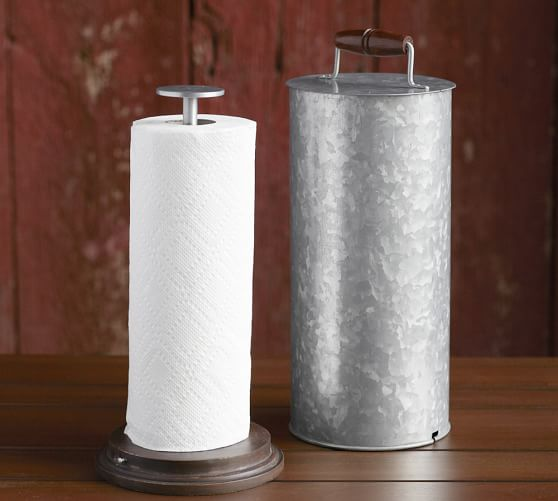 Galvanized Metal Paper Towel Holder