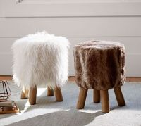 Faux Fur Stool | Pottery Barn