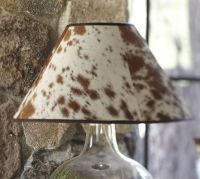 PB Basic Cowhide Lamp Shade   Pottery Barn
