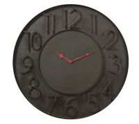 Modern Black Metal Wall Clock | Pottery Barn