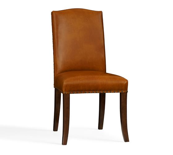 Staten Leather Side Chair  Pottery Barn