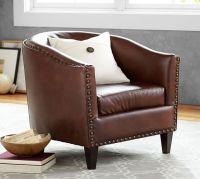 Harlow Leather Armchair | Pottery Barn