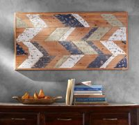 Chevron Wood Wall Art | Pottery Barn