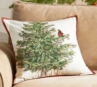 Cardinal Bird in Tree Pillow Cover | Pottery Barn