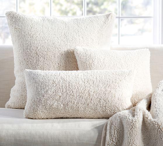 Faux Sheepskin Pillow Cover