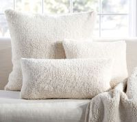 Faux Sheepskin Pillow Cover | Pottery Barn