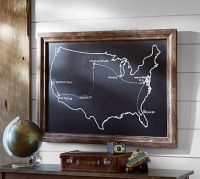 Chalkboard USA Wall Art   Pottery Barn